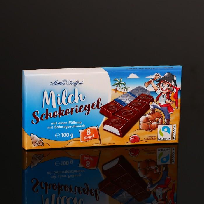 Батончики Maître Truffout из молочного шоколада, сливочно-кремовая начинка, 100 г