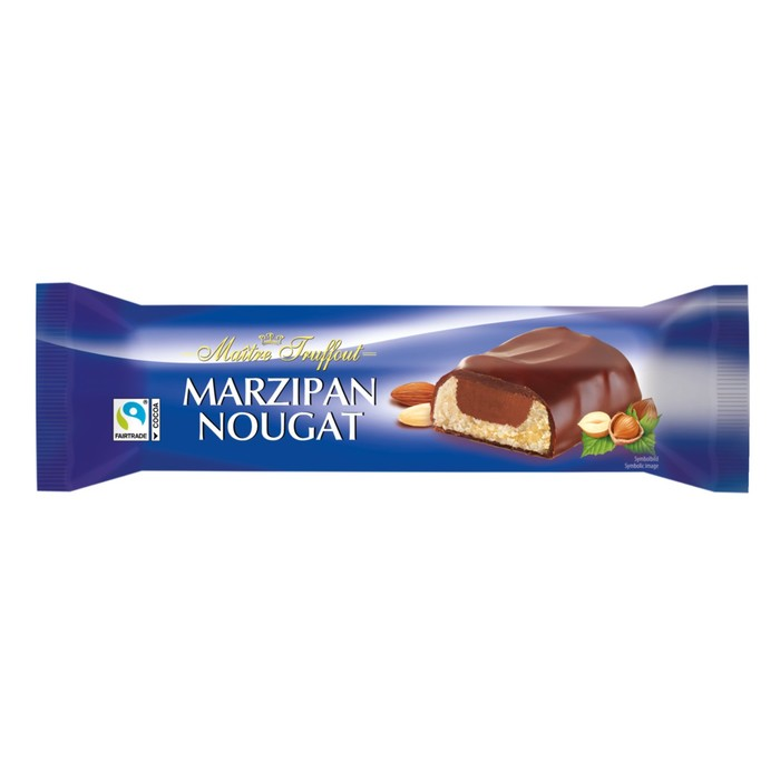 Батончик марципановый Maître Truffout с нугой и молочным шоколадом, 75 г