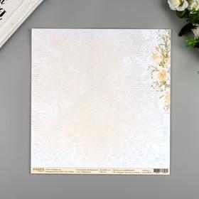 "Бумага для скрапбукинга двусторонняя ""Нарциссы"" 30.5х30.5 см, 190 гр/м2"