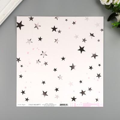 """Бумага для скрапбукинга Crate Paper """"Star dust"""" 30.5х30.5 см, 190 гр/м2"""