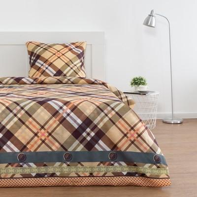 Постельное бельё 1,5 сп Лепота «Шотландия» , 143х215 см,145х214 см,70х70 см - 1шт