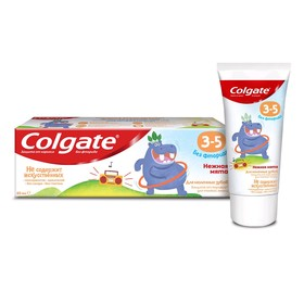 Зубная паста Colgate «Нежная мята», детская, от 3-5 лет, без фторида, 60 мл