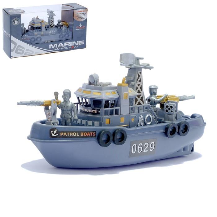 """Катер """"Морской патруль"""", работает от батареек, световые и звуковые эффекты"""