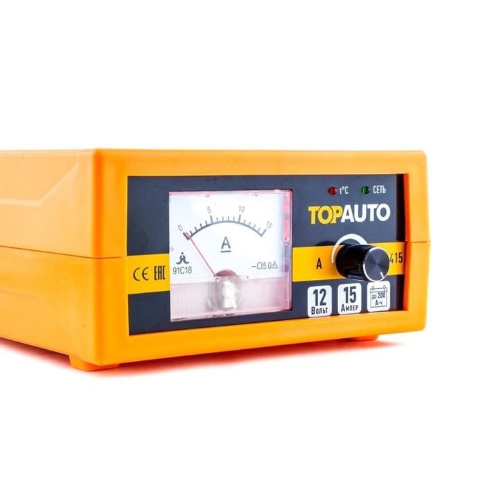 Автоматическое предпусковое зарядное устройство ТОП АВТО АЗУ-415 (15А, для 12В-АКБ до 200 А*ч, ручная регулировка)