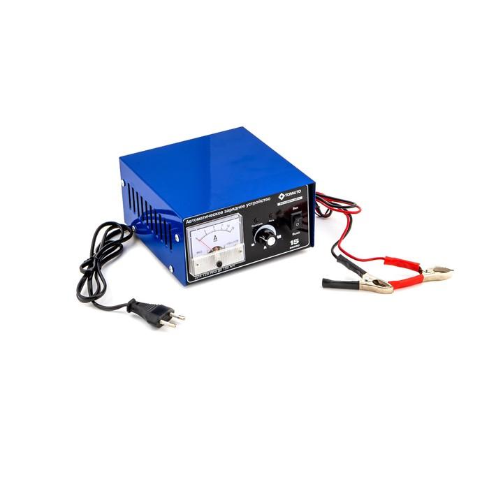 Автомат. предпусковое зарядное устройство ТОП АВТО 15А (15А, для 12В-АКБ до 150 А*ч, ручная регулир