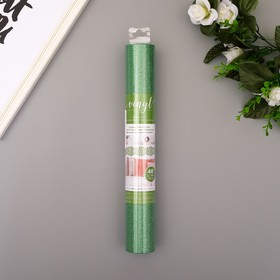 "Клеевой винил American Crafts ""Evergreen Glitter"" 30.5х120 см"