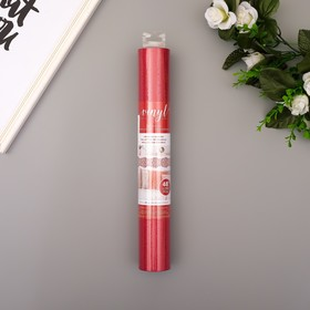 "Клеевой винил American Crafts ""Crimson Glitter"" 30.5х120 см"