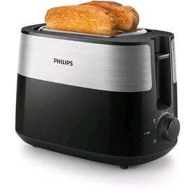 Тостер Philips HD2516/90, 830 Вт, 2 тоста, 8 режимов, серебристо-чёрный