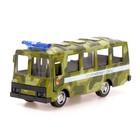 Автобус металлический «Спецслужбы», масштаб 1:52, инерция, МИКС