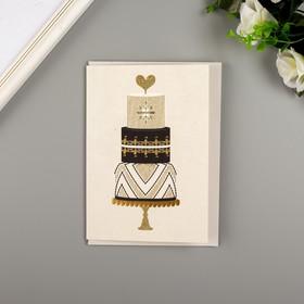 """Поздравительная открытка и конверт American Crafts """"Wedding Cake"""""""