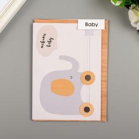 """Поздравительная открытка и конверт American Crafts """"Welcome Baby"""""""