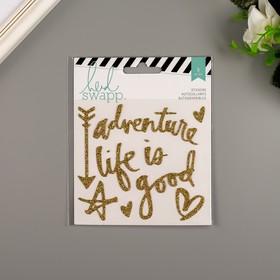 "Виниловые стикеры Heidi Swapp ""Gold Glitter"" 9 шт"