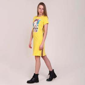 Платье женское, цвет жёлтый, размер 40 Ош