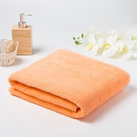 Полотенце махровое гладкокрашеное, 100х180 см, цвет персиковый
