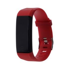 Фитнес браслет Qumann QSB 11, 0.96', IP67, цветной экран, красный Ош
