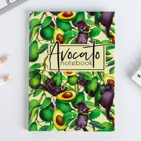 Блокнот А6 в твердой обложке Avocato notebook, 40 листов