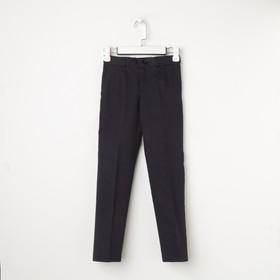 Школьные брюки для мальчика, цвет синий, рост 152 см (80)