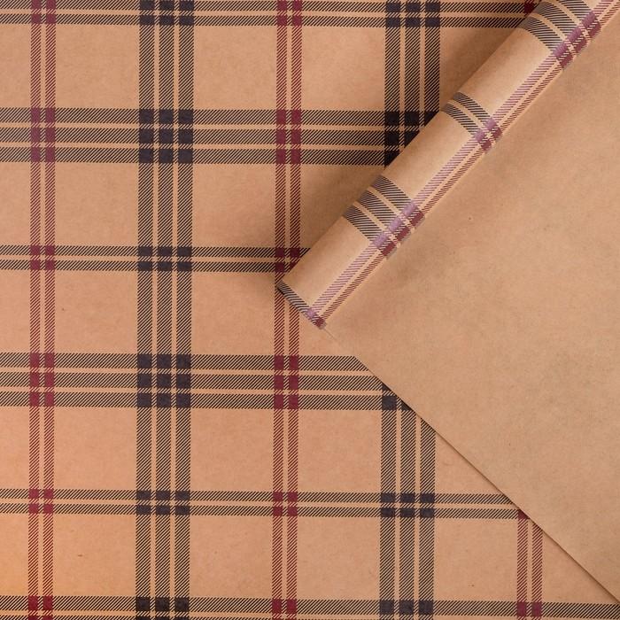 Бумага упаковочная крафтовая Полоски50х70 см