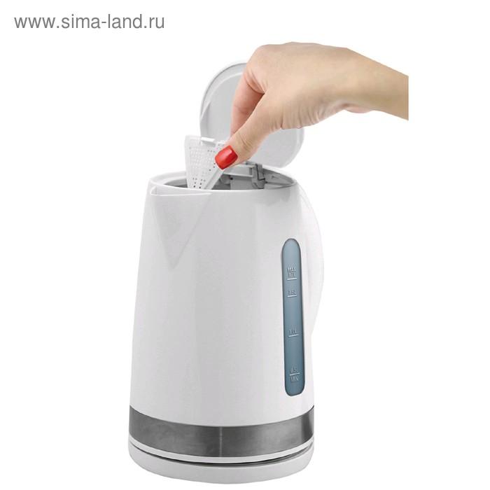 Чайник электрический Zigmund & Shtain KE-617, 2200 Вт, 1.7 л, пластик, белый