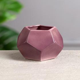 """Ваза настольная """"Многогранник"""", 7,5 см, микс, керамика"""