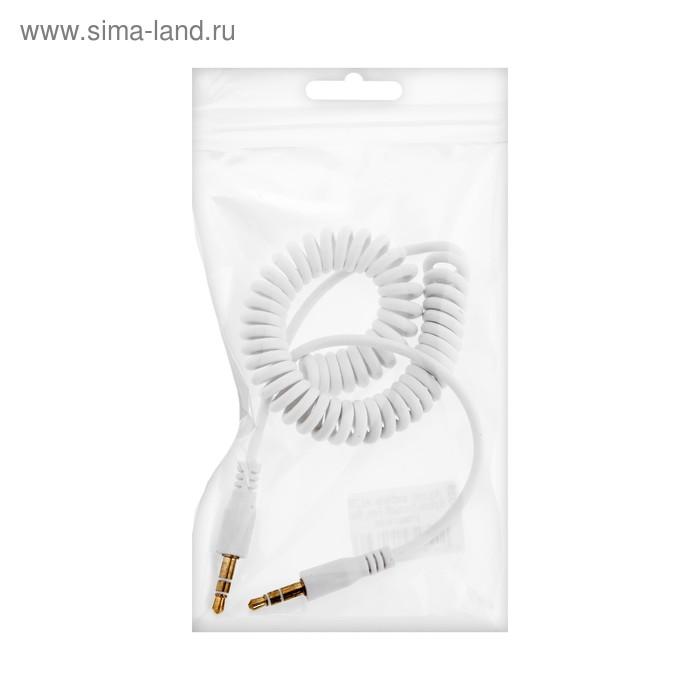 Кабель аудио AUX Spiral, Jack 3.5 мм(m)-Jack 3.5 мм(m), 1 м, белый