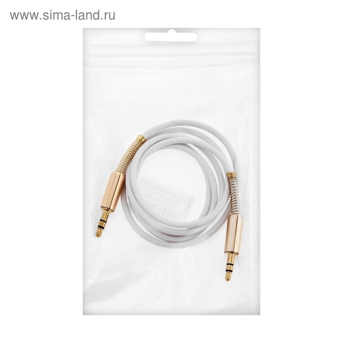 Кабель аудио AUX Spring, Jack 3.5 мм(m)-Jack 3.5 мм(m), 1 м, белый