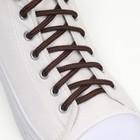 Шнурки для обуви круглые, d = 4 мм, 120 см, цвет коричневый