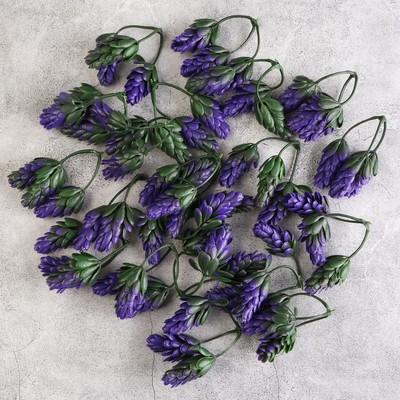 Декоративный хмель 6,5 см, фиолетовый - Фото 1