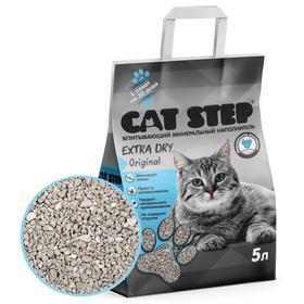 Наполнитель минеральный впитывающий CAT STEP Extra Dry Original, 5 л