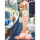 Набор для вышивки лентами «Дама в Венеции»