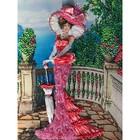 Набор для вышивки лентами «Дама в розовом»