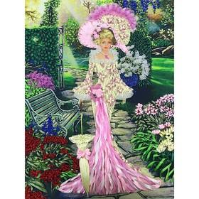 Набор для вышивки лентами «Дама в саду»