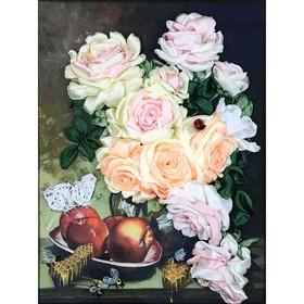 Набор для вышивки лентами «Розы с мёдом»