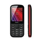 "Сотовый телефон TEXET TM-208 2,4"", microSD, 2 sim, чёрно-красный"