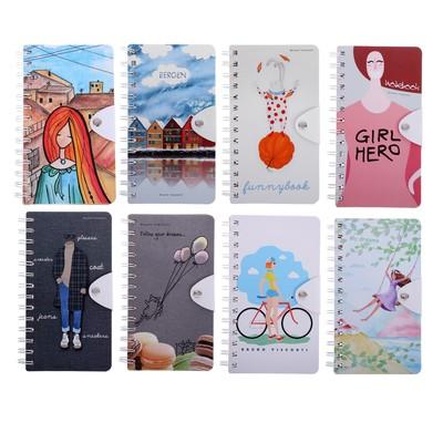 Блокнот В6, 96 листов на гребне Travel Journal, твёрдая обложка, блок крафт-бумага, 80 г/м2, МИКС - Фото 1