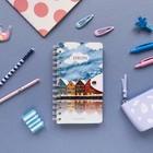 Блокнот В6, 96 листов на гребне Travel Journal, твёрдая обложка, блок крафт-бумага, 80 г/м2, МИКС - Фото 12