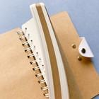 Блокнот В6, 96 листов на гребне Travel Journal, твёрдая обложка, блок крафт-бумага, 80 г/м2, МИКС - Фото 13