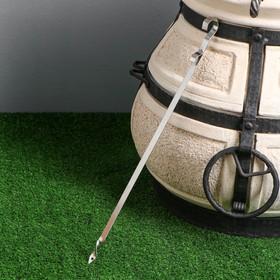 Шампур для тандыра, 45 х 1 см, нержавеющая сталь 1,5 мм Ош