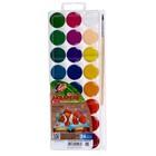 Акварель «Луч» ZOO, 24 цвета, с кистью