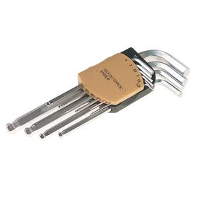 Набор ключей ROCKFORCE RF-5102LB, шестигранных, удлиненных, с шаром, 10 предметов