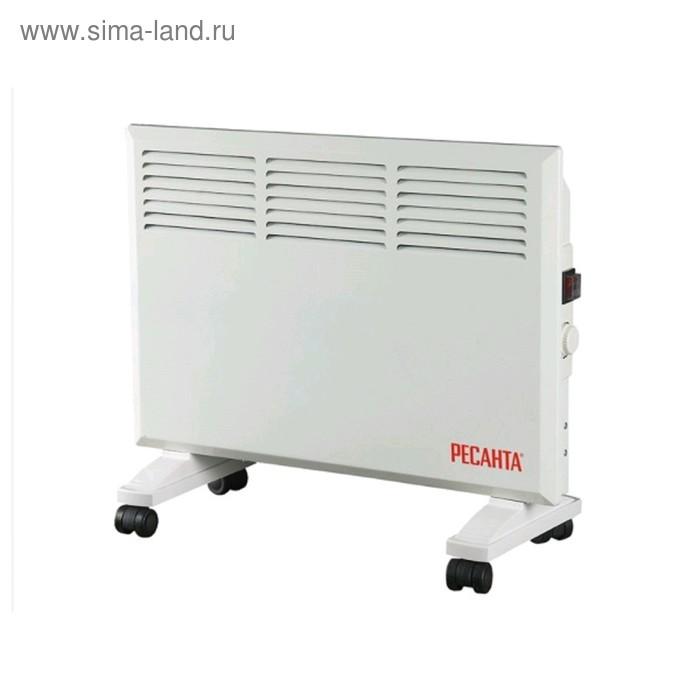 Обогреватель Ресанта ОК-1000, конвекторный, 1000 Вт, до 10 м2, IPX4, терморегулятор, белый