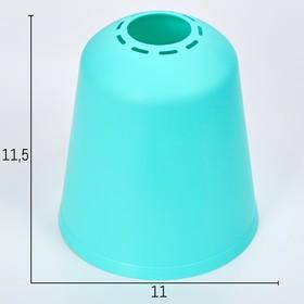 Плафон универсальный 'Цилиндр'  Е14/Е27 лазурный 11х11х12см Ош