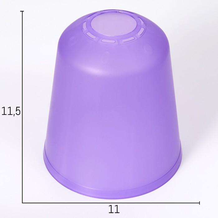 Плафон универсальный Цилиндр Е14Е27 фиолетовый 11х11х12см