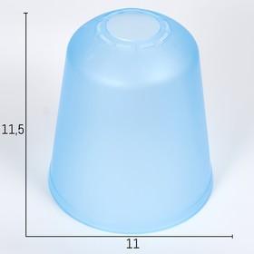 Плафон универсальный 'Цилиндр'  Е14/Е27 синий 11х11х12см Ош