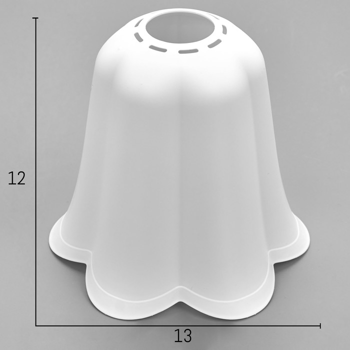 Плафон универсальный Цветок Е14Е27 снежно-белый 14х14х13см