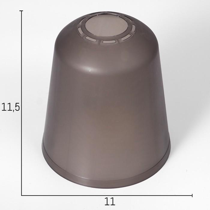 Плафон универсальный Цилиндр Е14Е27 дымчатый 11х11х12см