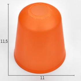 Плафон универсальный 'Цилиндр'  Е14/Е27 оранжевый 11х11х12см Ош