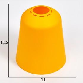 Плафон универсальный 'Цилиндр'  Е14/Е27 желтый 11х11х12см Ош