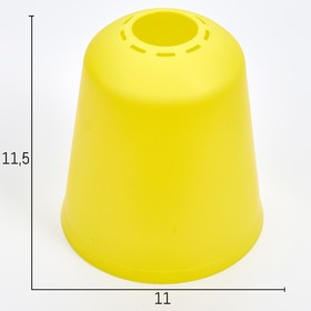 Плафон универсальный 'Цилиндр'  Е14/Е27 лимонный 11х11х12см Ош