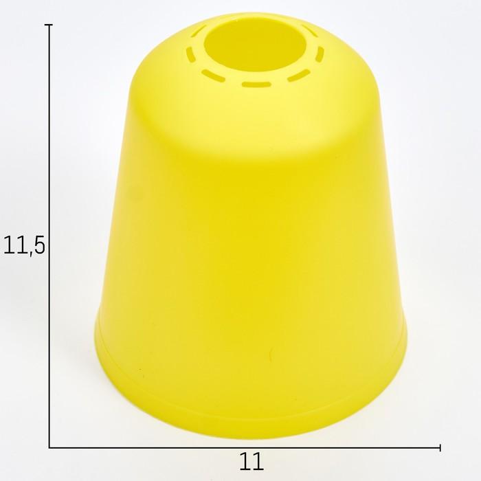 Плафон универсальный Цилиндр Е14Е27 лимонный 11х11х12см